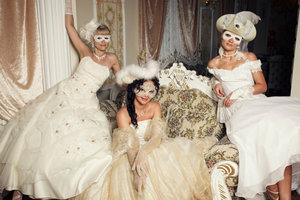 Une robe de mariée pour le carnaval - afin de réussir le panneau