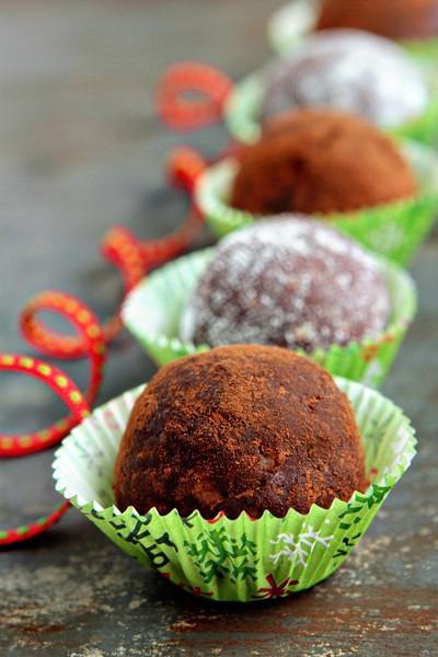 Facile sans cuisson Balls chocolat au rhum