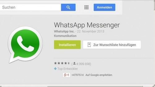 Utilisez WhatsApp pour Android - comment cela fonctionne: