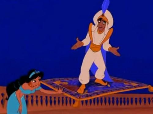 Ce temps tour magique de tapis d'Aladdin qui est arrivé dans les banlieues