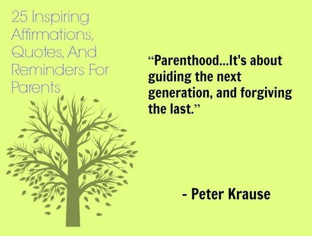 Affirmations, des rappels et des devis de 25 Inspiring Nouvel An pour les parents