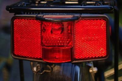 Vélo - réparation feu de position