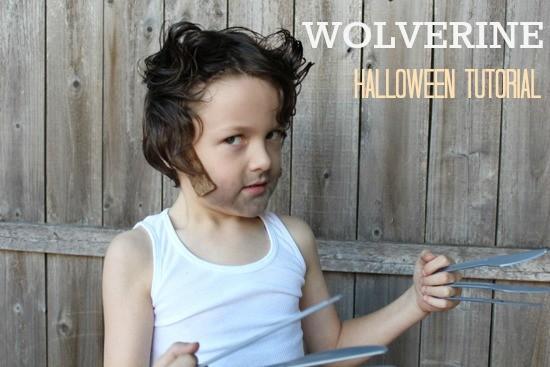 maquillage wolverine halloween pour enfants tutorial. Black Bedroom Furniture Sets. Home Design Ideas