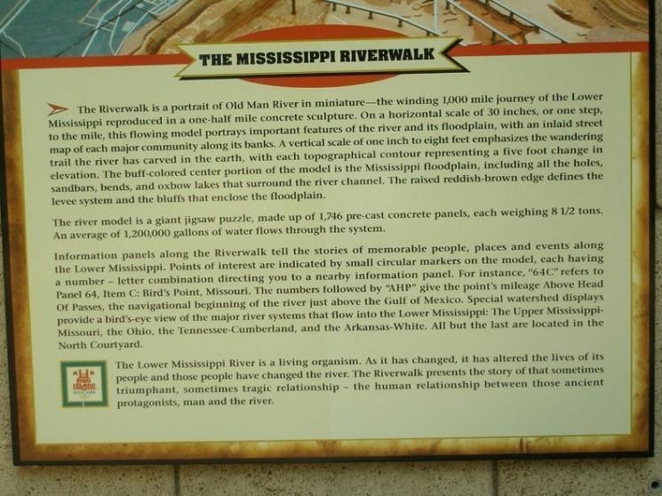 Maquette de la rivière Mississippi Mud Island