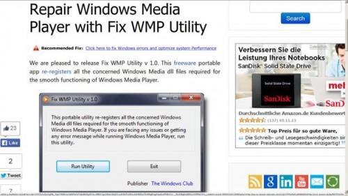 Réparer WMP 12 - Voici comment