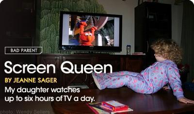 Ma fille Montres Jusqu'à 6 heures de télévision par jour