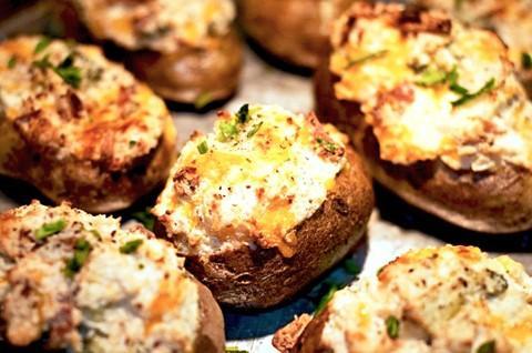 Mini-Twice Baked Entrées de pommes de terre