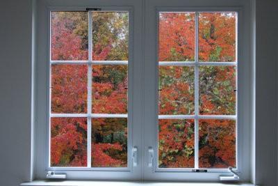Images de la fenêtre d'automne de papier de soie - Bastelanleitung