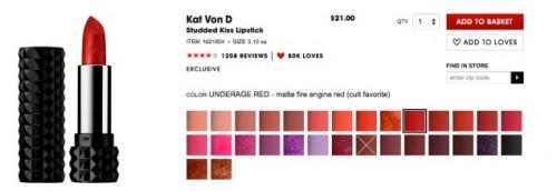 Sephora vendant un nouveau rouge à lèvres de façon inappropriée nommé et il ya toutes sortes de chair de poule