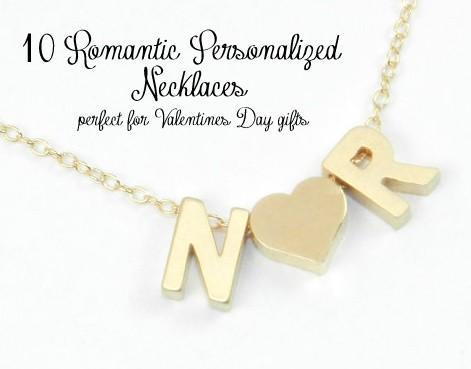 10 romantique colliers personnalis s parfait pour les cadeaux de la saint valentin. Black Bedroom Furniture Sets. Home Design Ideas