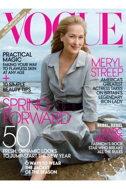 """Actrice Meryl Streep - Après 62 ans, le plus vieux """"Vogue"""" -Covergirl tous les temps"""