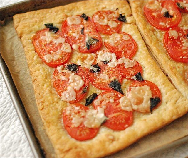 Plus facile tomate parmesan Tarte