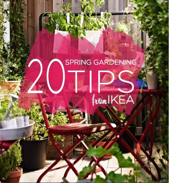 20 conseils de jardinage de printemps clever ikea for Conseil de jardinage