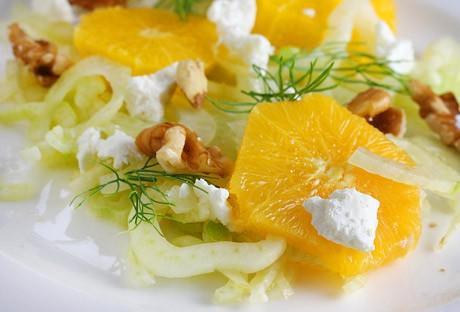 Allégez vos vacances: fenouil Salade d'oranges