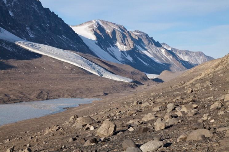 Vallées sèches de McMurdo de l'Antarctique: le plus sec place sur Terre