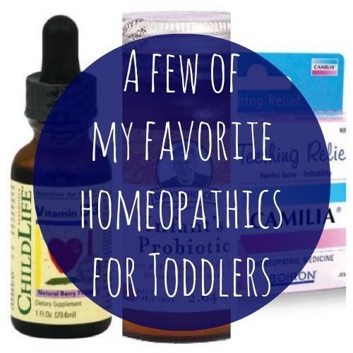 Quelques uns de mes préférés homéopathique pour les bambins