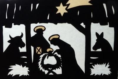Assistance avec des cartes de Noël - une idée originale