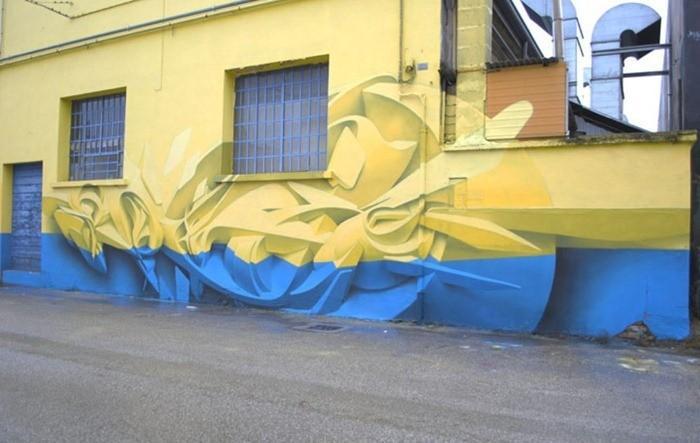 Superbe tridimensionnelle Graffiti Art