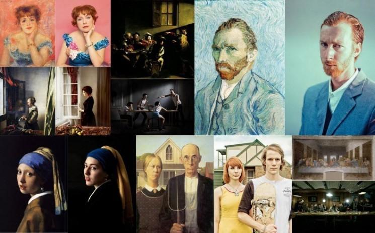 Photo Remake des peintures célèbres