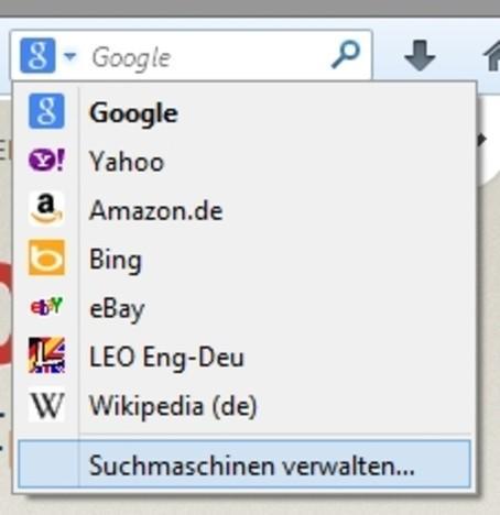 Firefox: Définir les moteurs de recherche - comment cela fonctionne:
