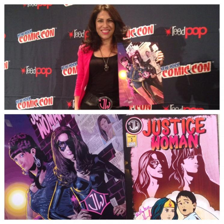 "New York Comic Con 2014: Latina avocate devenue Bandes dessinées et des actions de série Web Creator Inspiration pour Campy, comique-dramatique ""Justice Woman"""