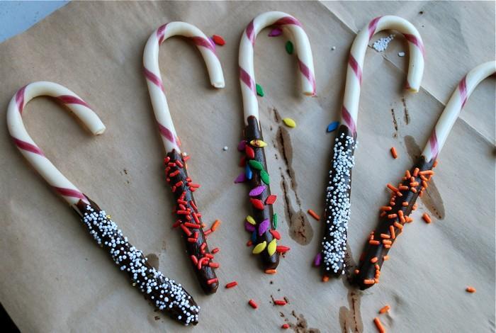 10-Minute artisanat de Noël: chocolat-couvert de cannes de sucrerie