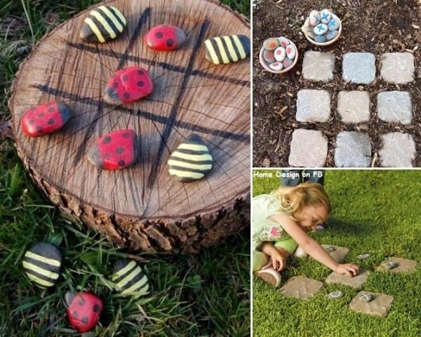 bricolage jardin amusant pour les enfants tic tac toe. Black Bedroom Furniture Sets. Home Design Ideas