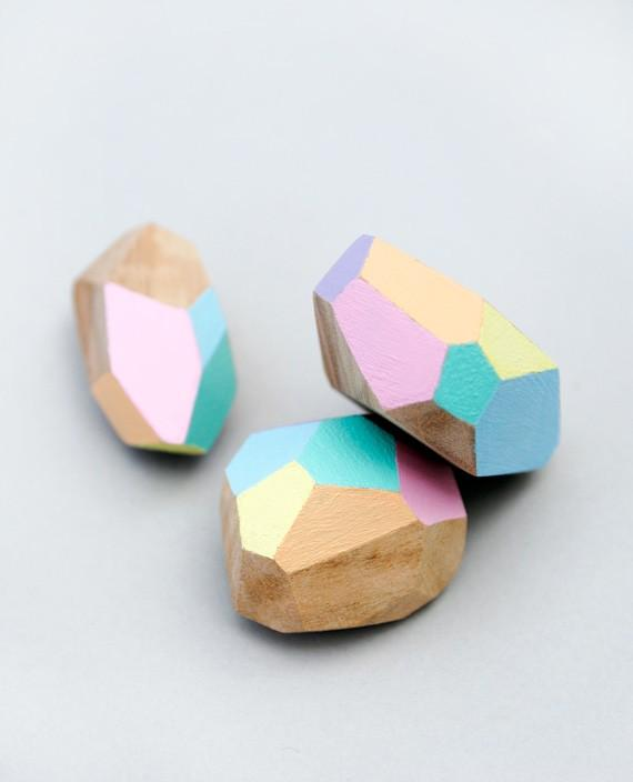 Perles en bois géométriques bricolage faciles