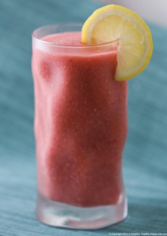 Smoothie: Fraise givré Pink Lemonade