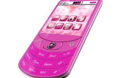 Décorez d'un téléphone cellulaire pour les filles avec des éléments décoratifs