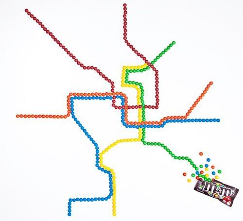 Subway Art fabriqués à partir de matériaux de tous les jours