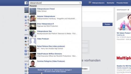 Facebook: utiliser Recherche avancée - comment cela fonctionne: