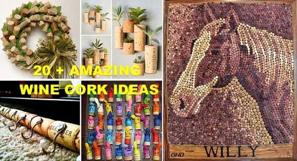 20 choses que vous ne soup onniez pouviez fabriquer avec for Garden design ideas cork
