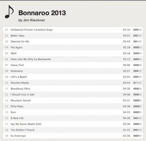 @ Bonnaroo Playlist de slippy