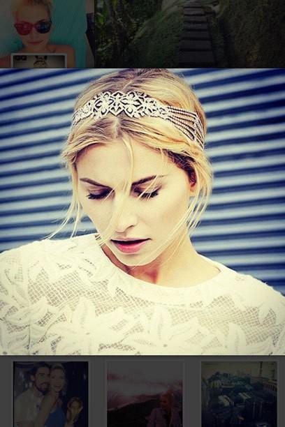 Lena Gercke Nouveau look: Avec des cheveux de platinblondem sur Instagram