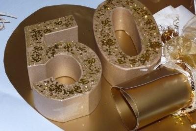 D coration de tinker pour les noces d 39 or lui m me - Decoration noce d or ...
