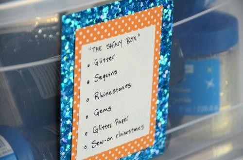 Labels Glitter bricolage