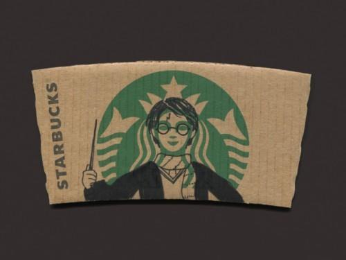 Ce manchon de café Starbucks pop art est tellement incroyable