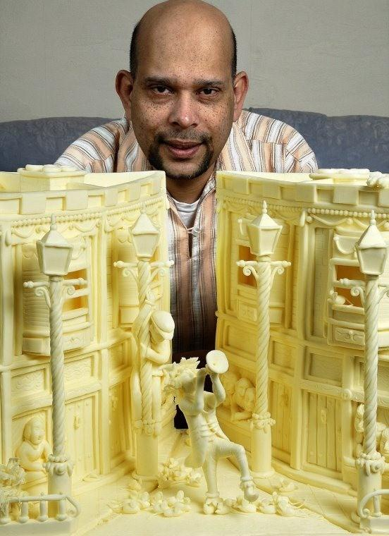 Sculptures de beurre Vipula Athukorale