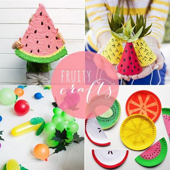 tutti frutti 8 bricolage fruits artisanat pour les parties d 39 t. Black Bedroom Furniture Sets. Home Design Ideas