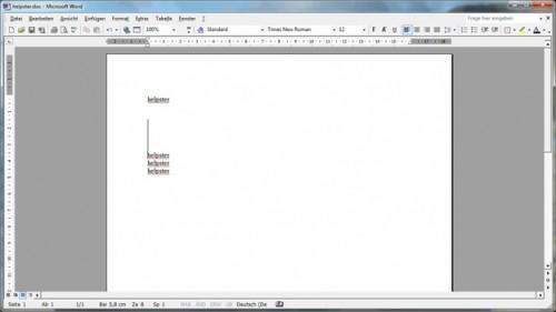 Insérez une ligne verticale dans Word - comment cela fonctionne: