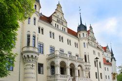Schloss Boitzenburg prise dans le Brandebourg sous le microscope