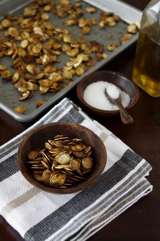 Comment faire graines de citrouille aux pices - Faire griller des graines de citrouille ...