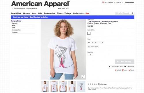 American Apparel célèbre Périodes Avec Graphic T-shirts: vont-ils trop loin?