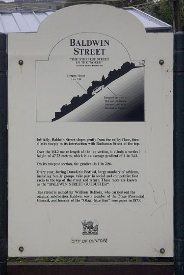 Baldwin Street, la rue la plus pentue dans le monde