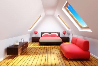 Meubler une chambre avec pente élégant - comment cela fonctionne: