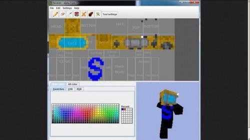 Caractère Minecraft - changer le regard de tant