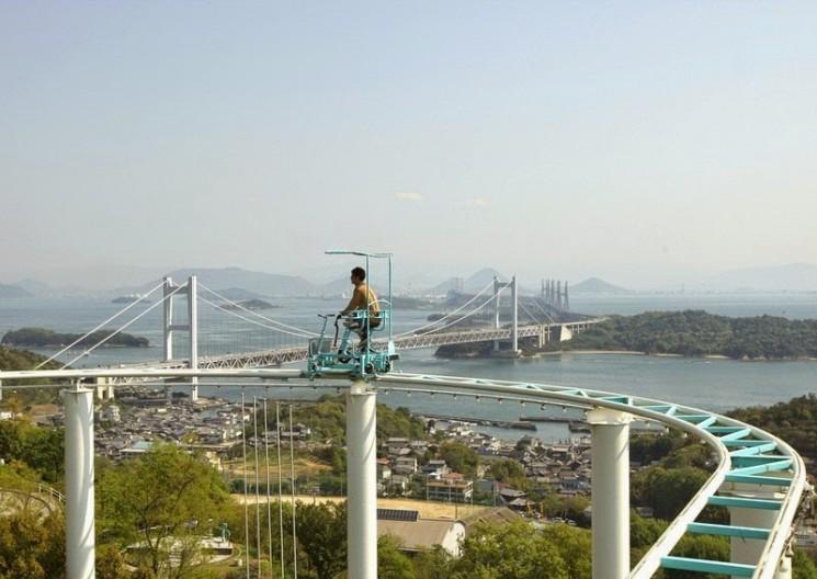 SkyCycle, une pédale Propulsé Roller Coaster au Japon