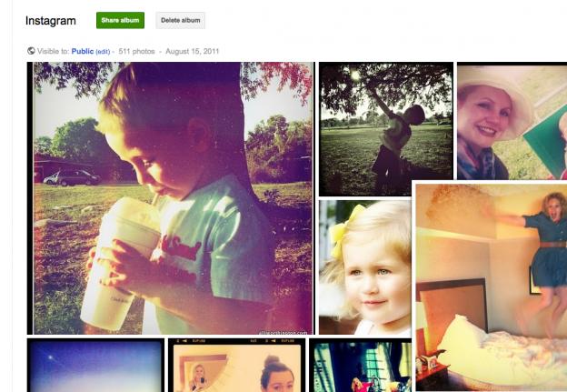 importez votre biblioth u00e8que instagram dans un album google