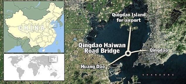 La Chine construit le plus long pont au monde de la mer: Le Pont de Qingdao Haiwan